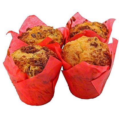 Central Market Pecan Sour Cream Muffins 4 Count, 16 OZ