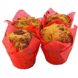 Central Market Pecan Sour Cream Muffins 4 Count, 16 OZ