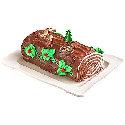 Central Market Bûche de Noël, Chocolate, Serves 8-10