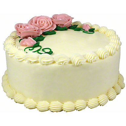 Central Market 8' White Birthday Cake, 36 oz