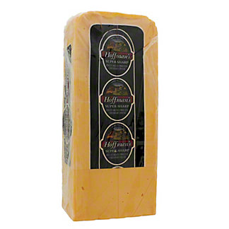 Hoffman's Super-Sharp Cheddar Cheese,sold by the pound