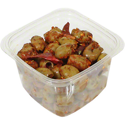 Pitted Greek Olive Mix with Crushed Chilies, ea
