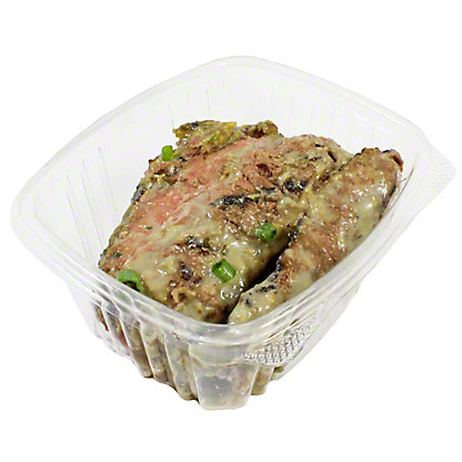 Honey Garlic Marinaded Grilled Flank Steak, LB