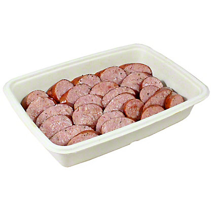Smoked Sliced Sausage, Sold by the pound