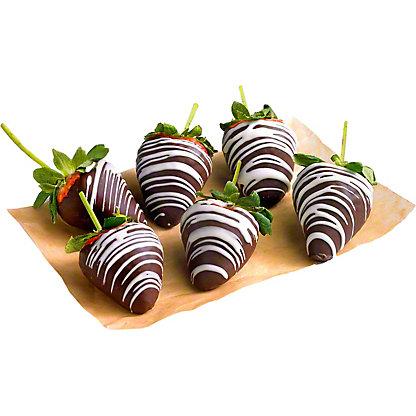 Swiss Chocolate Dipped Strawberries, 6 ct
