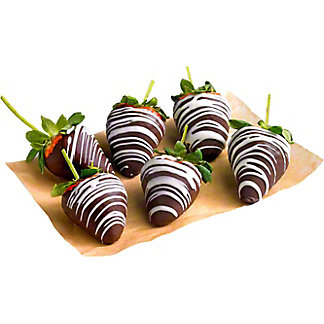 Swiss Chocolate Dipped Strawberries, 6 ct