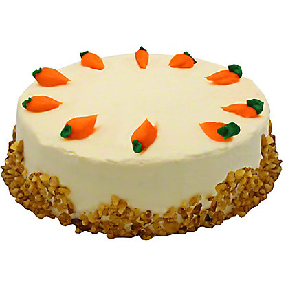 Central Market 9' Carrot Cake with Cream Cheese Icing, EACH