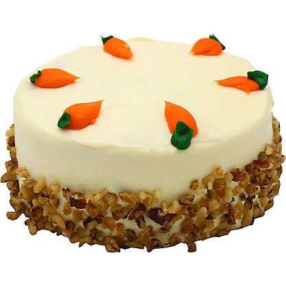 """6"""" Carrot Cake with Cream Cheese Icing, 48 OZ"""