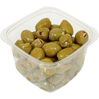 Mt. Athos Green Olives Stuffed With Garlic, Sold by the pound
