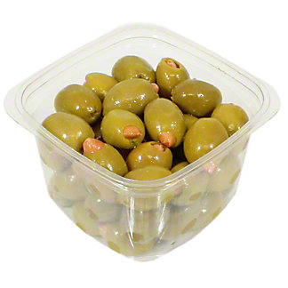 Mt. Athos Green Olives Stuffed With Almonds, Sold by the pound
