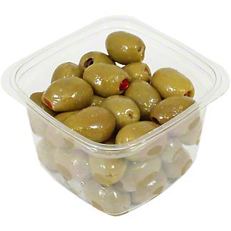 Divina Mt. Athos Green Olives Stuffed With  Red Peppers, Sold by the pound
