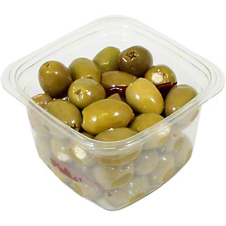 Mt. Athos Green Olives Stuffed With Feta, Sold by the pound