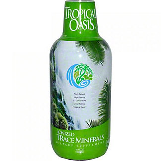 Tropical Oasis Ionized Trace Minerals Liquid, 16 oz
