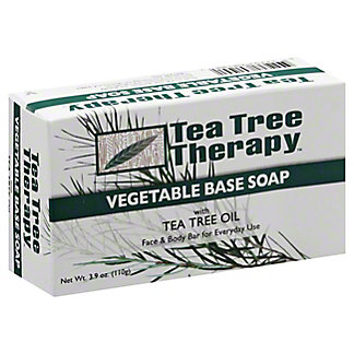 Tea Tree Therapy Vegetable Base Soap with Tea Tree Oil, 3.5 oz