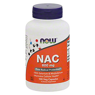 NOW N-Acetyl Cysteine 600 mg Capsules,100 CT