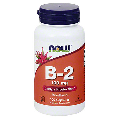 NOW B-2 100 mg Capsules, 100 ct