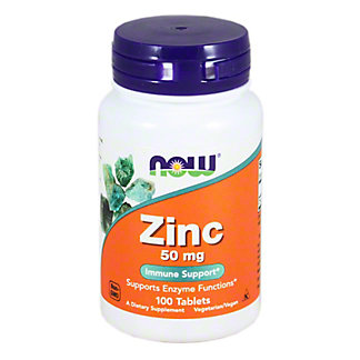 NOW Naturals Zinc Gluconate 50 Mg. Capsules, 100 ct