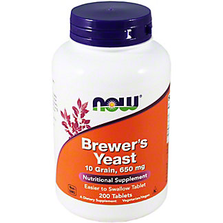 NOW Naturals Brewer's Yeast Capsules, 200 ct