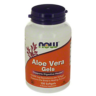 NOW Aloe Vera 5000 mg Softgels, 100 ct