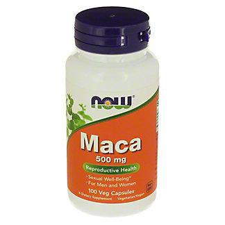 NOW Maca 500 mg Veg Capsules, 100 ct