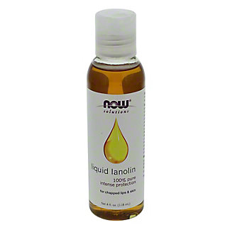 NOW Solitions Pure Liquid Lanolin Oil, 4 oz