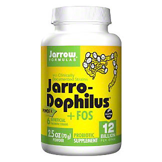 Jarrow Formulas Jarro-Dophilus +FOS 12 Billion Probiotic Powder, 2.5 OZ