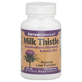 Jarrow Formulas Milk Thistle Capsules, 100 ct