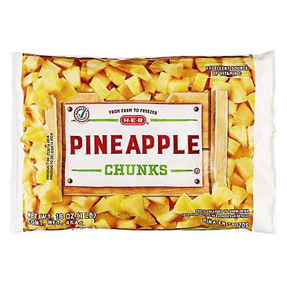 H-E-B H-E-B Super Sweet Pineapple Chunks (No Sugar Added),16.00 oz