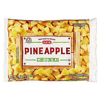 H-E-B H-E-B Super Sweet Pineapple Chunks (No Sugar Added),16.00 oz