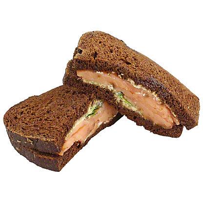 Central Market Smoked Salmon Sandwich, ea