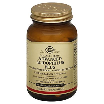 Solgar Advanced Acidophilus Plus Vegetable Capsules,60 CT