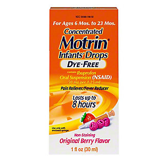 Motrin Children's Dye-Free Concentrated Drops, 1 oz
