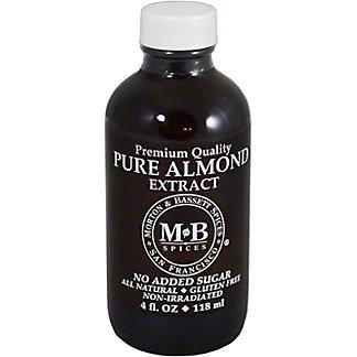 Morton & Bassett Pure Almond Extract, 4.00 oz