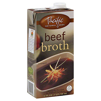 Pacific Natural Foods Beef Broth,32 OZ