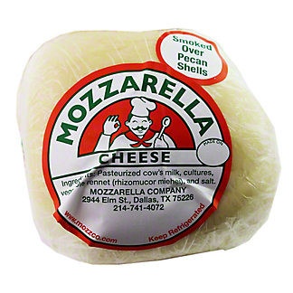 Mozarella Company Mozzarella Cheese Smoked over Pecan Shells,3LB
