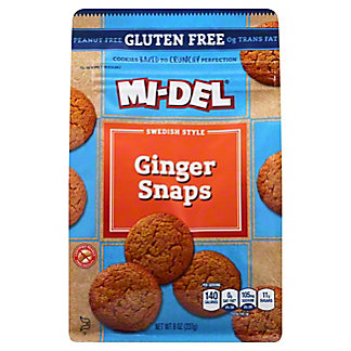 Mi-Del Gluten Free Ginger Snaps,8 oz