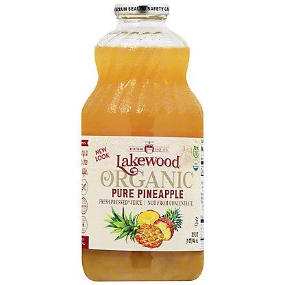 Lakewood Organic Fresh Pressed Juice Pineapple 100%, 32 oz