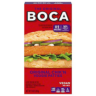 Boca Boca Original Chik'n Veggie Patties,4.00 ea