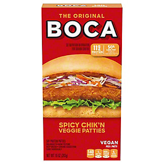 Boca Spicy Chik'n Meatless Patties, 4 ct