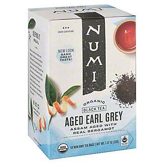 Numi Organic Tea Aged Earl Grey Tea Bags, 18 CT