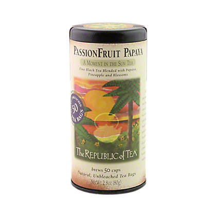 The Republic of Tea PassionFruit Papaya Black Tea Bags, 50 CT