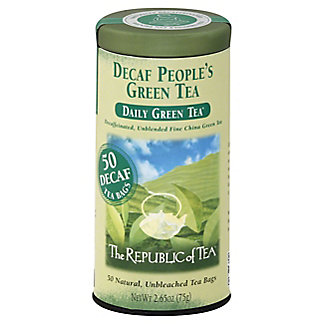 The Republic of Tea The People's Green Tea Decaf Bags, 50 ea