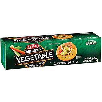 H-E-B Vegetable Entertainer Crackers,8 OZ