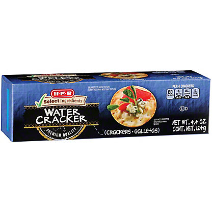 H-E-B Select Ingredients Entertainer Water Crackers,4.4 OZ