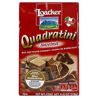 Loacker Quadratini Hazelnut Bite Size Wafer Cookies,8.83 OZ