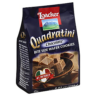 Loacker Quadratini Chocolate Bite Size Wafer Cookies,8.83 OZ