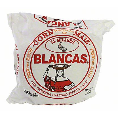 El Milagro Blancas Corn Tortillas,30 CT