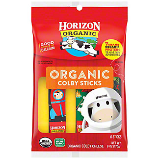 Horizon Organic Cheese Sticks, Organic, Colby Cheese, 8 oz