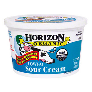 Horizon Organic Horizon Lowfat Sour Cream, 16.00 oz