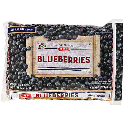 H-E-B H-E-B Blueberries (No Sugar Added),5 LBS